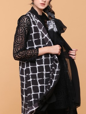 Printed Shawl Song Vest