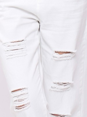 Weight Belt Ripped Jeans