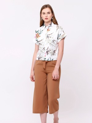 Flower Printed Short Sleeves Shirt