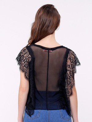 Laces Sheer Top
