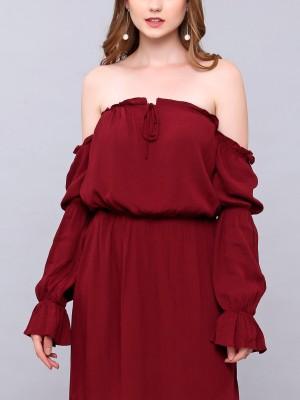 Peasant Off Shoulder Dress
