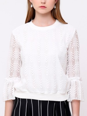 Laces Long Sleeves Top