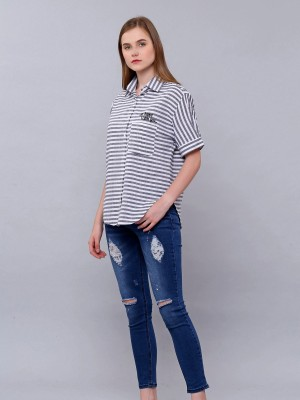 Stripes Oversized Top