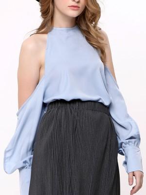 Drop Shoulder Long Sleeves top