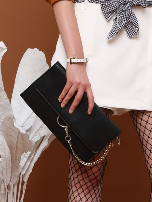 Gold Ring Chain Clutch
