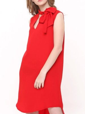 Neck-Tie Sleeveless Dress