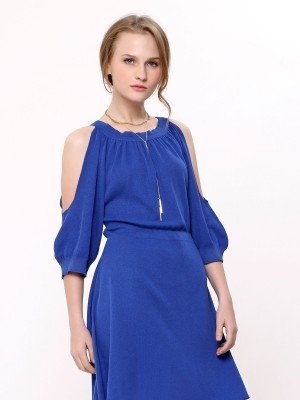 Boat Neck Knitted Dress