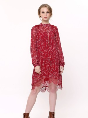 Printed Bottom Laces Dress
