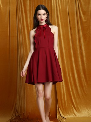 CNY Halter Mini Dress
