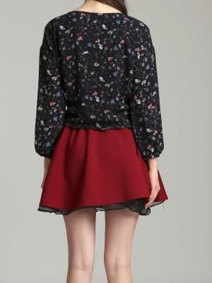 Layered Flare Mini Skirt