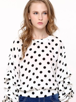 Polkadot Puffy Long Sleeves op