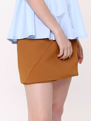 Front Buttons Mini Skirt