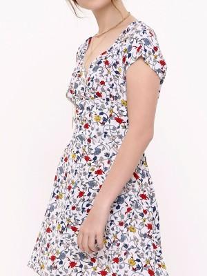 Flower Print Mini Dress
