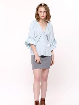 waist Tie Mini Skirt