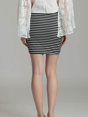 Ssssstripes Tulip Mini Skirt