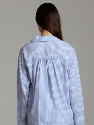 Pocket Long Sleeves Stripes Top