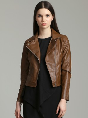Zipper Faux Leather Jacket