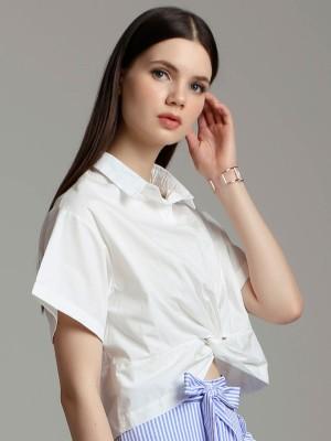 Crop Front Short Sleeves Shirt