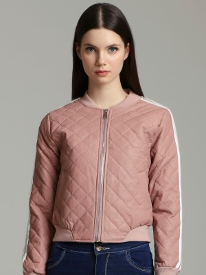 Quited Bomber Synthetic  Leather Jacket