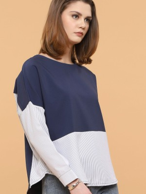 Two Tones Stripes Wide Top