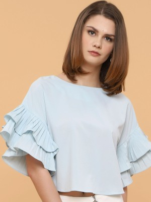 Pleated Sleeves Top