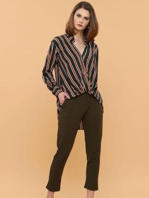 3 Tones Stripes Long Sleeves Shirt