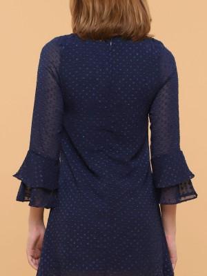 Long Ruffle Sleeves Dress