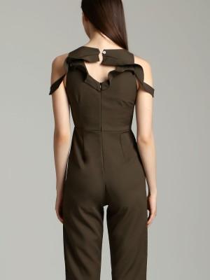 Drop Shoulder Peet Top Jumpsuit