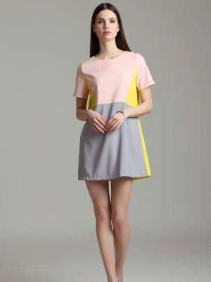 Three Tones Shift Dress