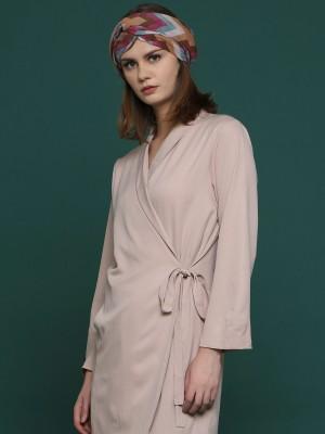 Long Sleeves Wrap Dress