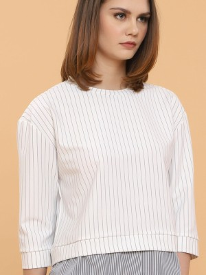 Long Sleeves Two Tones Stripes Top