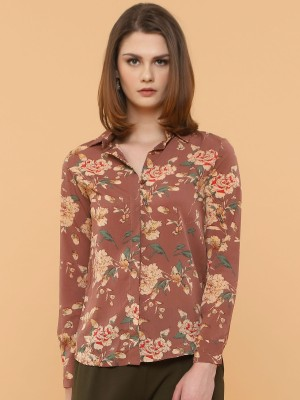 Long Sleeves Flower Printed Shirt