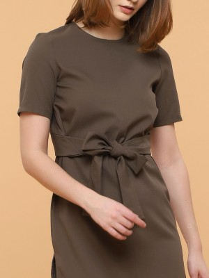 Waist Tie Short Sleeves Dress