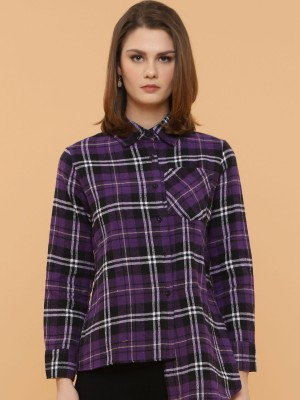 Irregular Lining Checked Shirt