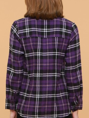 Irregular Lining Checked Shirt