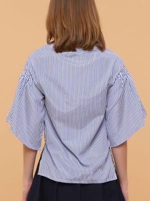 Bell Sleeves Stripes Top
