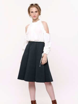 Chevron Pattern A-Line Skirt