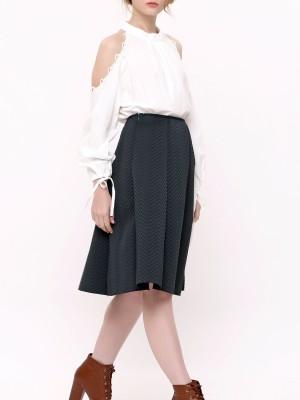Chevron Pattern A-Line Skirt