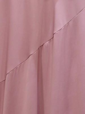Side Ruffles Long Sleeve High Neck Maxi Dress