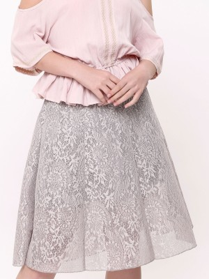 Full Brocade A-Line Skirt