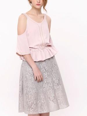 Full Brocade A-Line Skirt