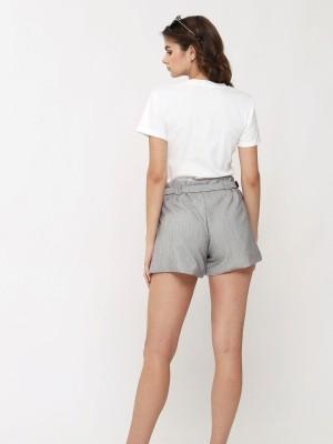 Stripes Short With Belt