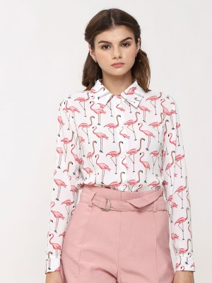 Long Sleeve Flamingos Shirt