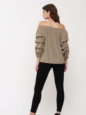 Runched Sleeve Top