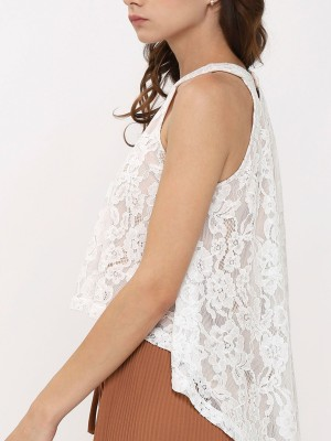 Laces High Neck Top