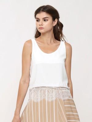 Fringe Lace Neckline Camisole