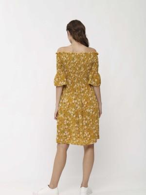 Smock Floral Sabrina Dress