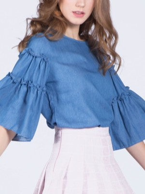 Flare Sleeves Top