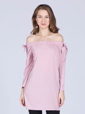 Shoulder Tie Shift Dress