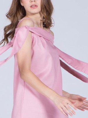 Off Shoulder Tied Dress